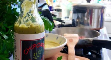 Cilantro Jalapeno Hot Sauce at the Farmer's Market