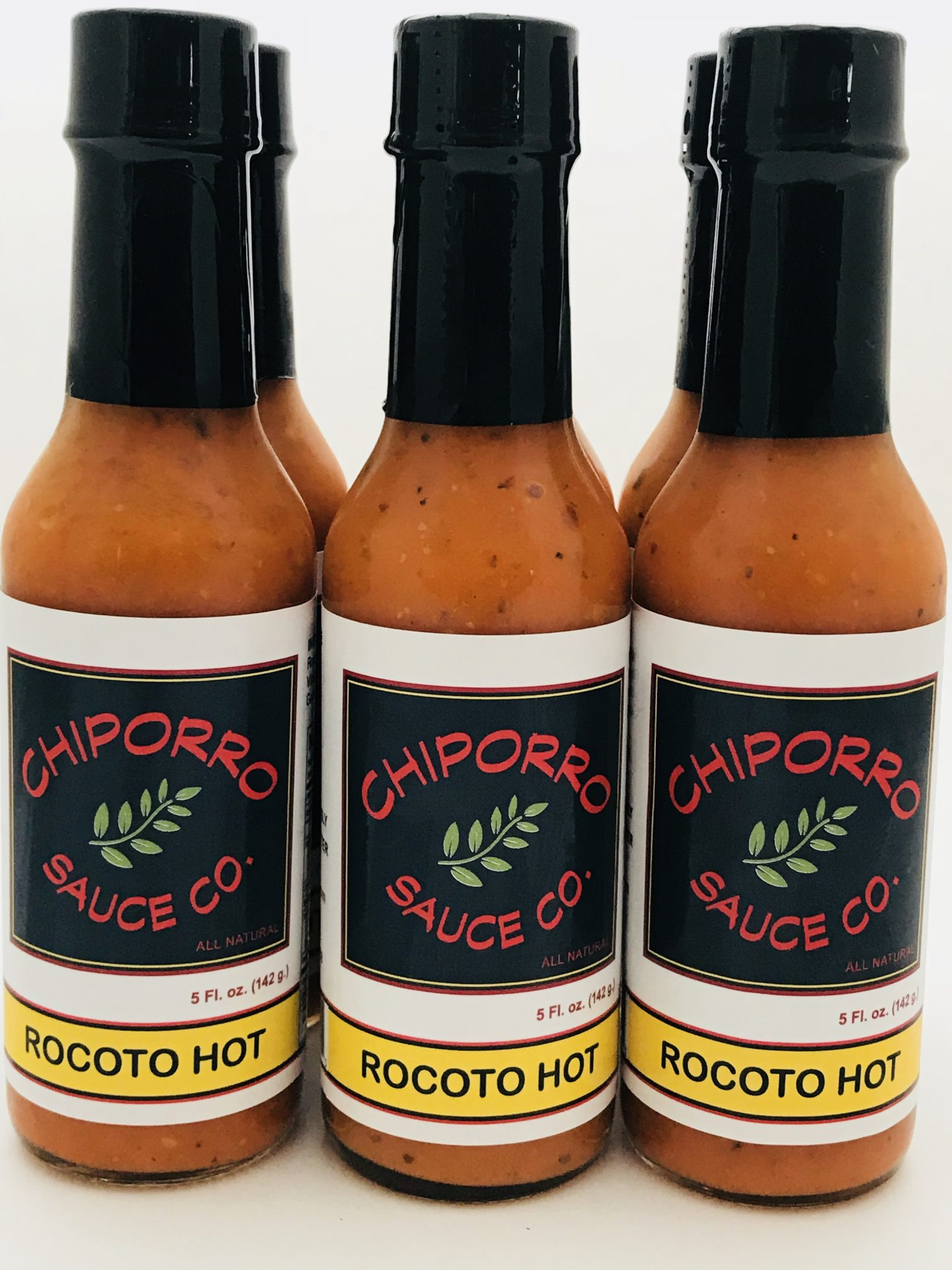 Bottles of Rocoto Hot Sauce