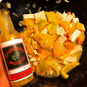 Wicked Hot Sauce makes the perfect orange stir-fry