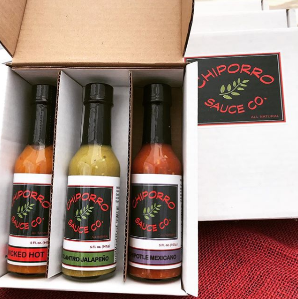Chiporro Hot Sauces in a Gift Set