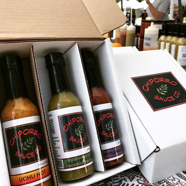 Three Hot Sauces in a Gift Box